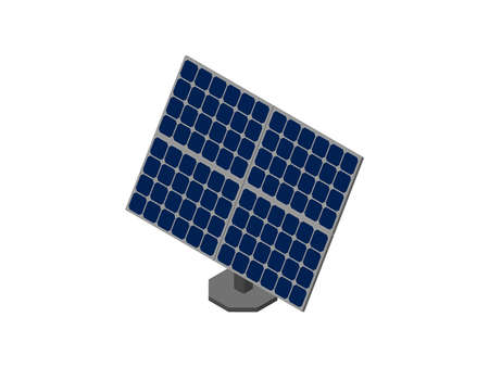 Solar panel. Isolated on white background. 3d Vector illustration. Isometric projection.