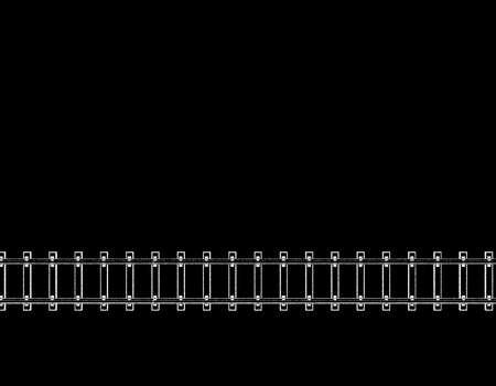 Railway track. Isolated on black background. Vector  illustration. Pointillism style. Illustration