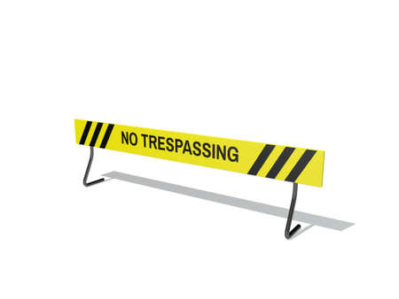 No Trespassing sign. Isolated on white background. 3D rendering illustration.