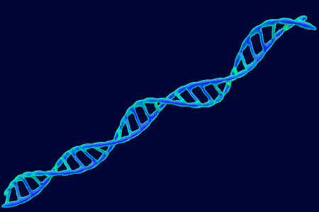 DNA spiral. Vector illustration. Pointillism style.