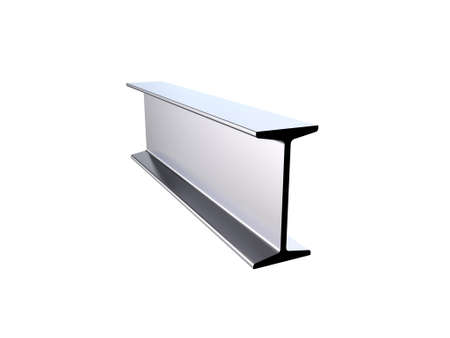 Metal profile i-beam. Isolated on white background.3D rendering illustration.