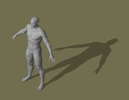 Standing man. 3d vector illustration. Isometric projection.