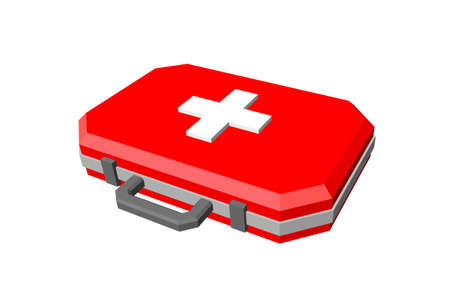 Medical bag. Isolated on white background. 3d Vector illustration.