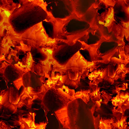 Embers glowing texture background. Seamless pattern.