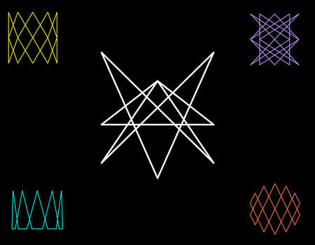 Abstract geometric shapes of lines. Vector outline illustration.Sacred geometry.