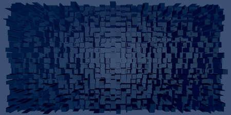 Abstract architecture background. 3d Vector illustration. Stock Illustratie