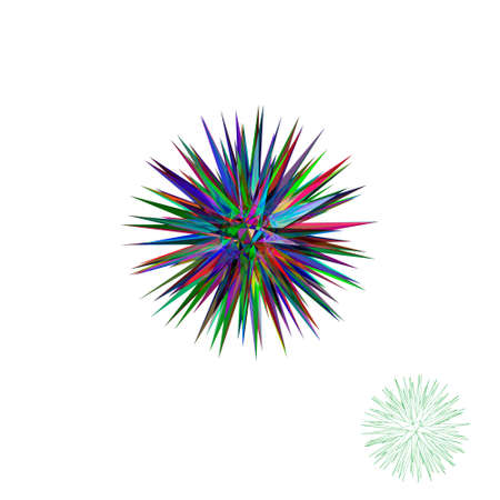 Abstract 3d crystal.Isolated on white background.Vector colorful illustration.