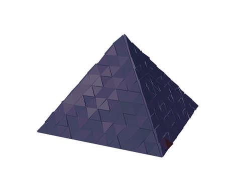 Abstract futuristic pyramid. Isolated on white background. 3d Vector illustration. Stock Illustratie