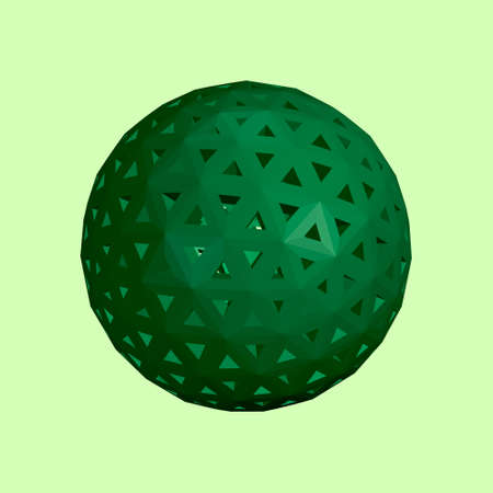 Abstract sphere wireframe. 3d Vector illustration. Stock Illustratie