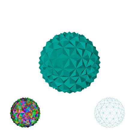 Abstract 3d sphere.Isolated on white background.Vector illustration. Stock Illustratie