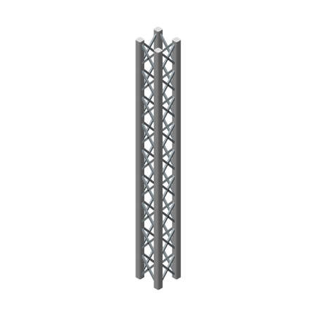 Truss girder. Isolated on white background. 3D Vector illustration. Isometric projection.