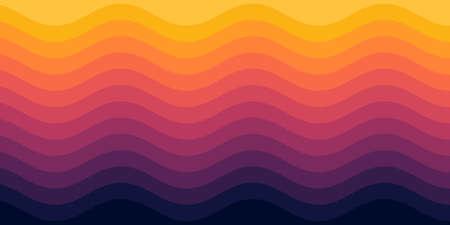 Colorful wave background. Vector illustration.
