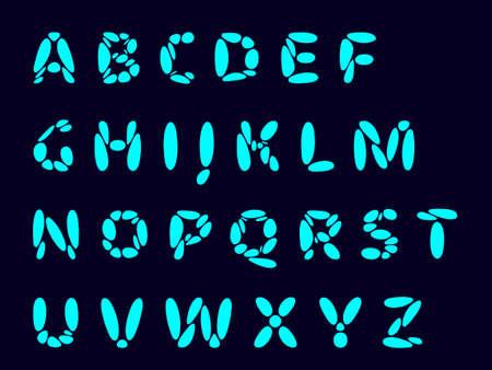 Alphabet letters, font design. Vector flat illustration. Stock Illustratie