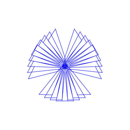 Abstract geometric shape of lines. Isolated on white background. Vector outline illustration.