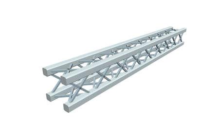 Truss girder. Isolated on white background. 3D Vector illustration.