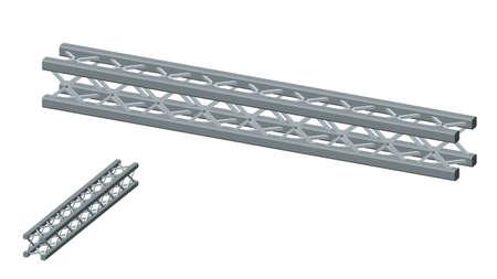 Truss girder. Isolated on white background. 3D Vector illustration. Dimetric projection. Ilustracja
