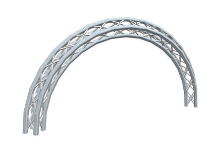 Arch Truss. Isolated on white background. 3D Vector illustration.