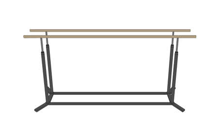 Parallel bars. Vector outline illustration. Front view.