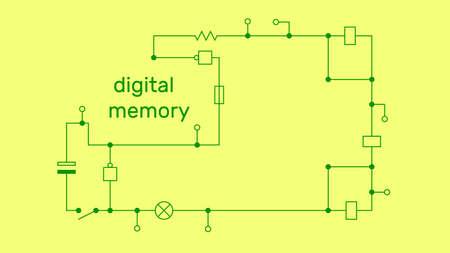 Electronic circuit scheme. Technology concept. Vector illustration.