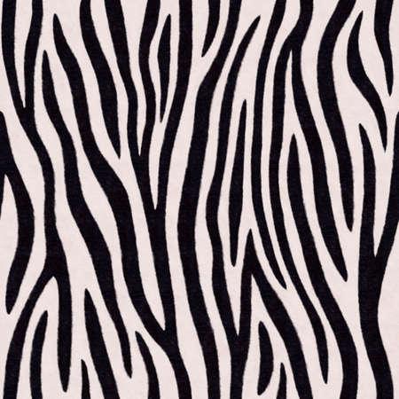 Zebra stripes seamless pattern. Endless black and white background. Raster illustration. Standard-Bild