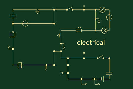 Electronic circuit scheme. Technology concept. Vector illustration. Illusztráció