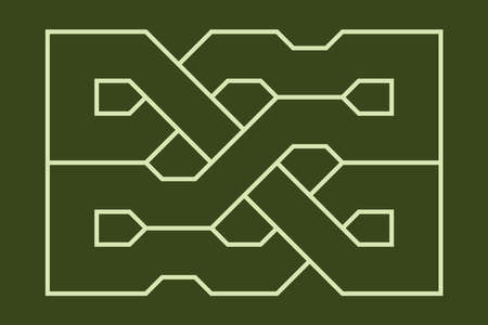 Celtic knot. Medieval decorative ornament. Geometric Design Element. Vector outline illustration.