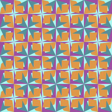 Abstract geometric seamless pattern. Geometrical ornament. Vector colorful illustration. Endless texture. Illusztráció