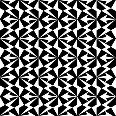 bstract geometric seamless pattern. Geometrical black and white ornament. Vector monochrome illustration. Endless texture.