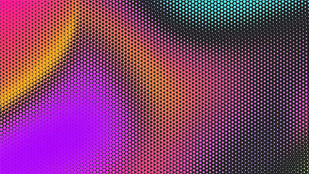 Abstract colorful halftone background. Modern gradient Multicolor Backdrop with dots. Dotted soft lines pattern. Vector illustration. Illusztráció