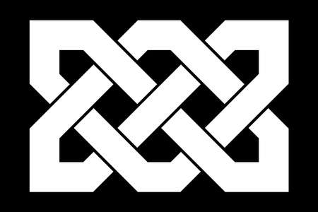 Celtic knot. Medieval decorative ornament. Geometric Design Element. Vector illustration.