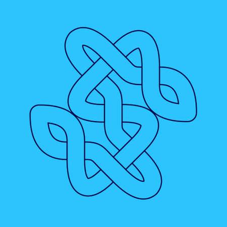 Celtic knot. Abstract ornament. Vector outline illustration. Illusztráció