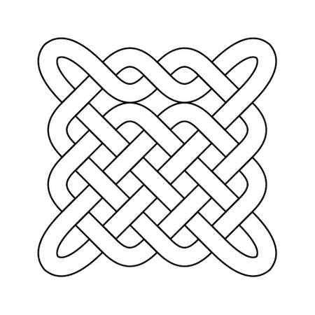 Celtic knot. Abstract ornament. Vector outline illustration. Stock fotó - 152689839