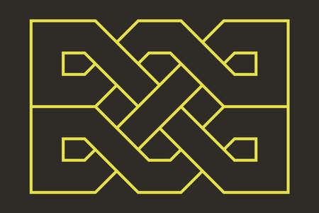 Celtic knot. Medieval decorative ornament. Geometric Design Element. Vector outline illustration. Stock fotó - 152689859