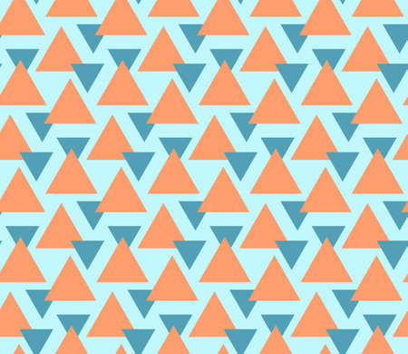 Abstract geometric seamless pattern. Geometrical ornament of triangles. Vector colorful illustration. Endless texture.