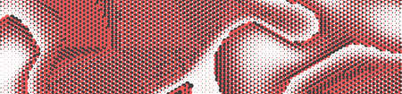 Abstract panoramic ethnic halftone background. Panorama, black white red color Backdrop with dots. Dotted soft lines pattern. Vector illustration. Stock fotó - 152689877