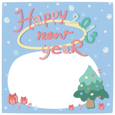 remplir: New year card 2013 avec la note de remplir Illustration