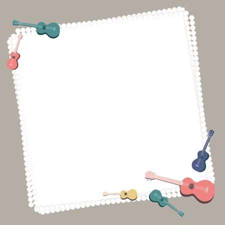 remplir: Ukulele avec bloc-notes pour le message de remplissage