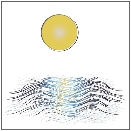 echo: Full moon reflected on water at night Illustration
