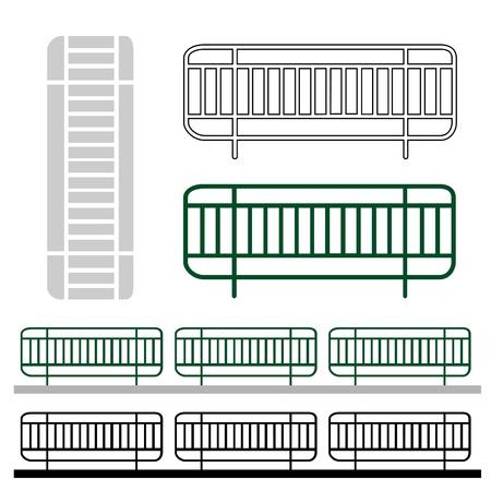 white matter: Graphic design for road fence in bangkok