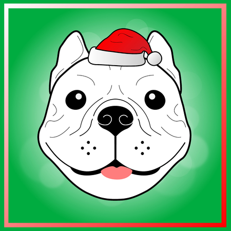 frenchie: Bulldog Christmas and happy new year.