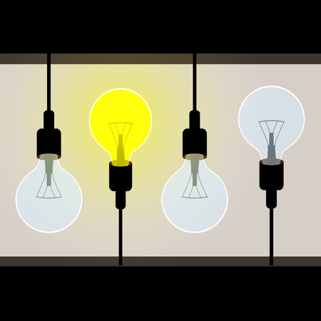 lightbulb idea: Lightbulb idea concept vector for business