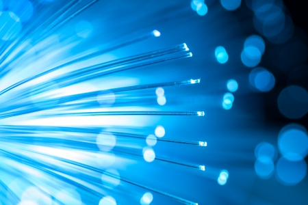 Blue fiber optic background.  Stock Photo