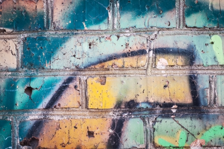 Graffiti on wall, background
