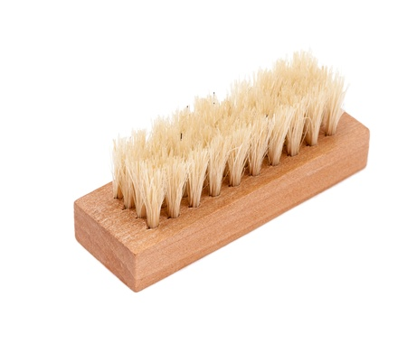Shoe brush on a white background.  photo