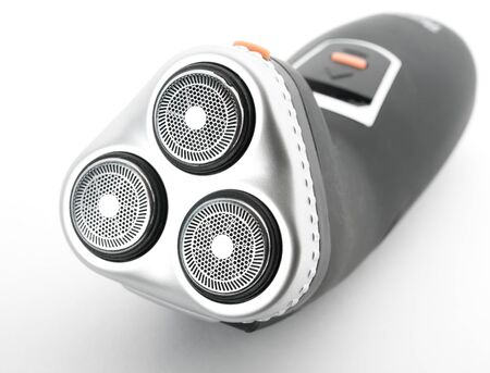 electric shaver: Electric shaver on white.