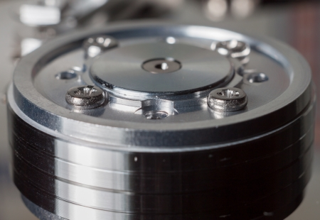Hard disk drive, close-up.  photo