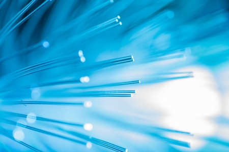 Blue fiber optic background.  Stock Photo