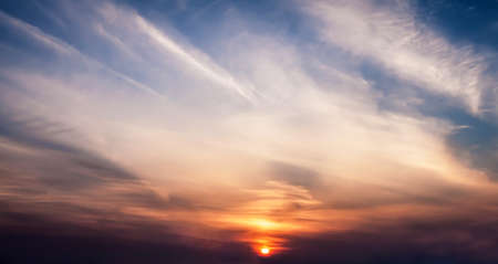 Beautiful sunset with clouds   Stock Photo - 18621985