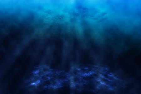 Dark underwater world, background  Stock Photo