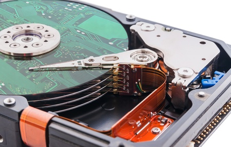 Hard disk drive and circuit board on it s surface
